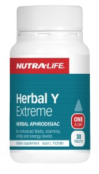 Nutralife Herbal Y Extreme for Men Tablets 30