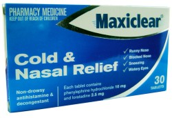 Maxiclear Cold + Nasal Relief Tablets 30