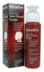 Betadine Sore Throat Gargle Readymixed 120ml