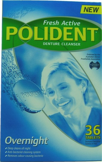 buy polident denture cleanser tablets overnight 36 at health chemist