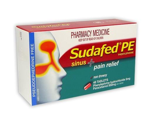 Buy Sudafed Pe Sinus Pain Relief Tablets 48 At Health Chemist