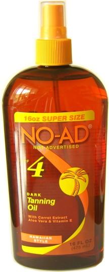 Buy No Ad Dark Tanning Oil 475ml Spf 4 At Health Chemist