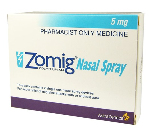Buy Zomig (Zolmitriptan) Nasal Spray UK | Migraine