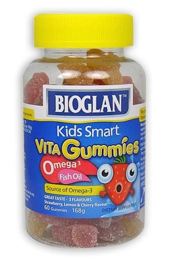 Buy bioglan kids smart vita gummies omega 3 fish oil 60 at for Kids fish oil