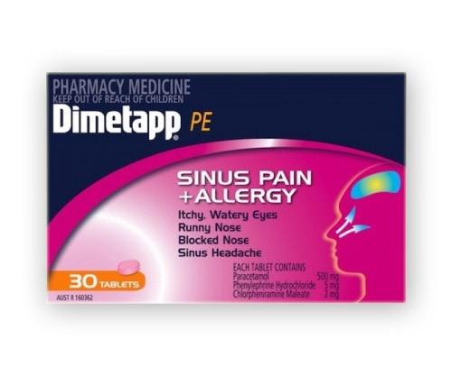 Buy Dimetapp PE Sinus Pain & Allergy Tablets 30 at Health ...