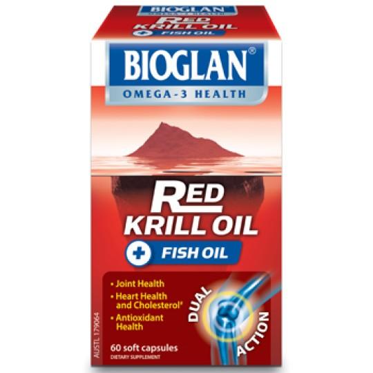 Buy bioglan red krill fish oil capsules 60 at health for Krill oil or fish oil