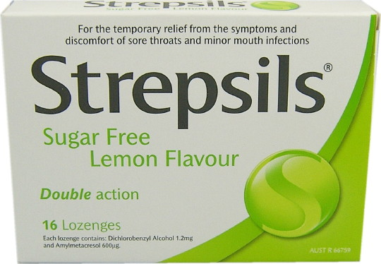 Strepsils Sugar Free Lozenges lemon 16