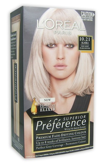Buy Loreal Preference Alaska Very Light Pearl Blonde 10
