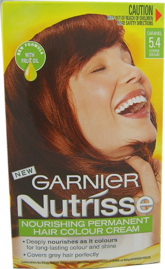 Garnier Nutrisse Caramel 54 Copper Brown   Dark Brown Hairs