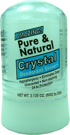 Deodorant crystal stone