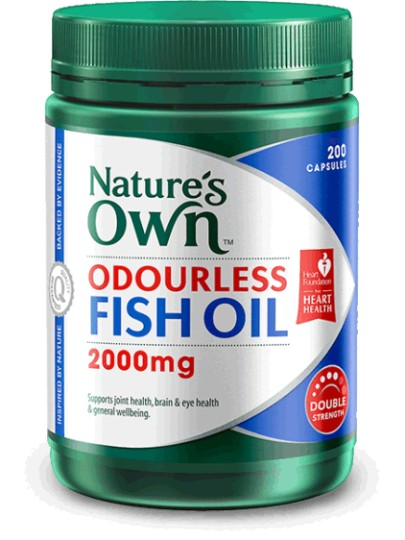 Buy natures own odourless fish oil 2000mg capsules 200 at for Fish oil alternative