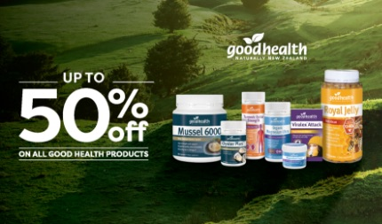 Good Health - Supplements up to 50% off