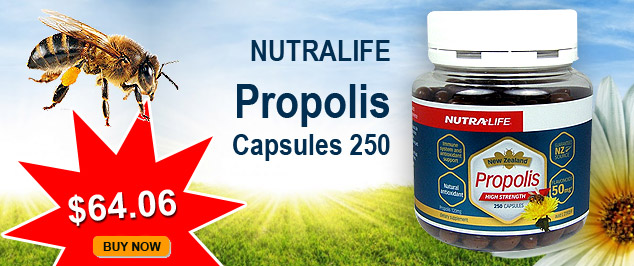Nutralife Propolis Capsules 250 now $69.30. BUY NOW.