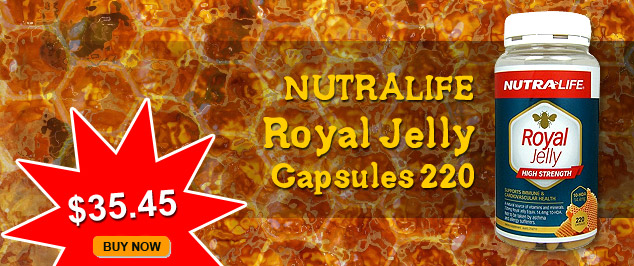 Nutralife Royal Jelly Capsules 220 now $39.90. BUY NOW.