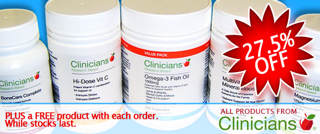 Clinicians Special 27.5% off