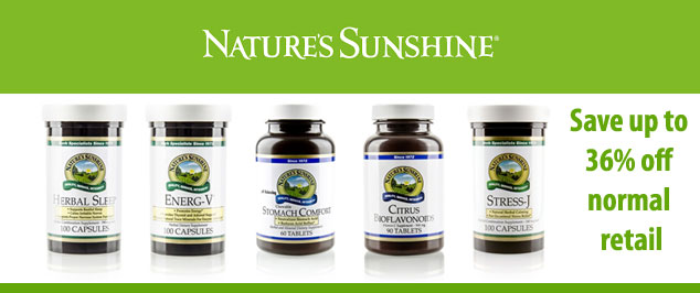 Natures Sunshine 36% off