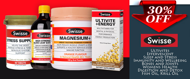 SWISSE product range 30% off